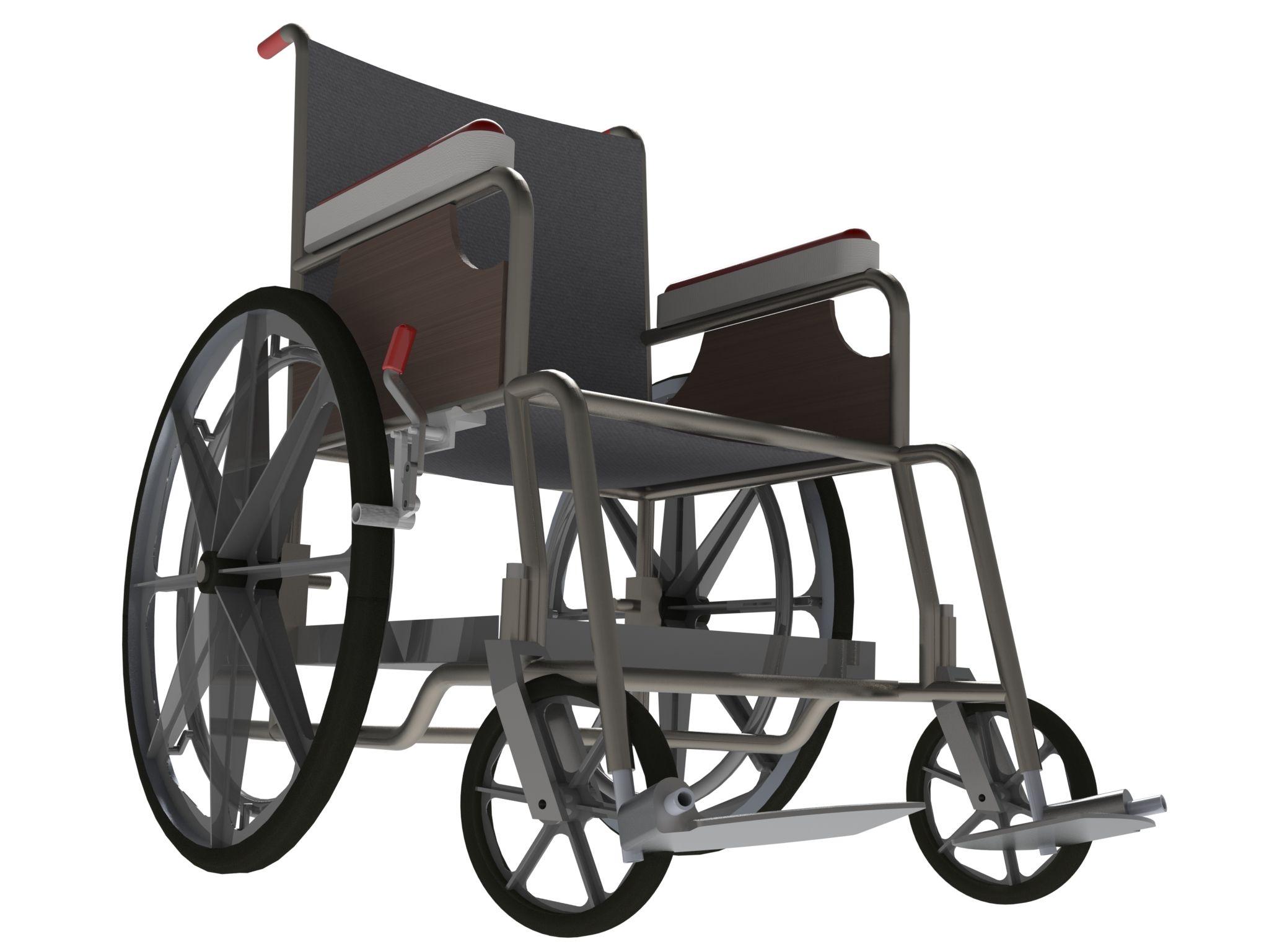 Visualisation et rendering d'un fauteuil roulant