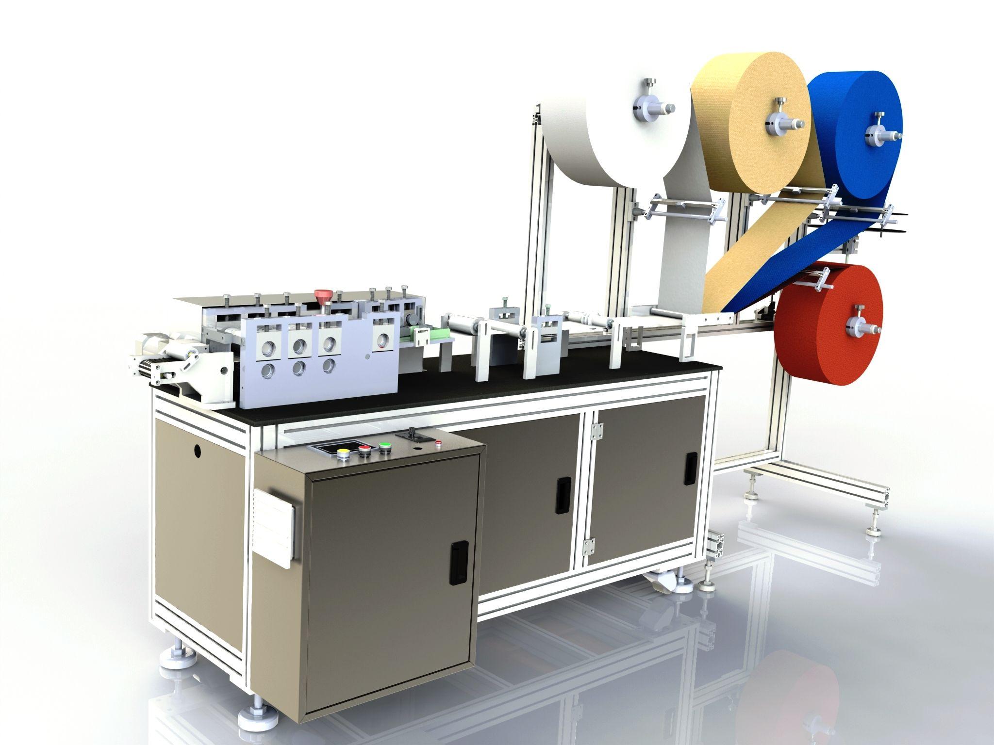 Machine de fabrication de masques type «chirurgical»