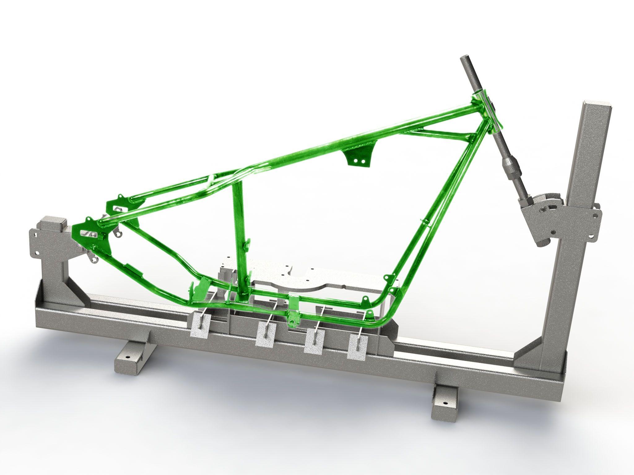 Outillage de réparation de cadres de motos