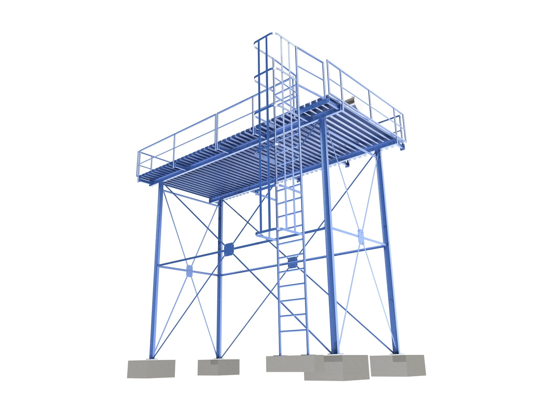 Plateforme pour installation de panneaux solaires thermiques
