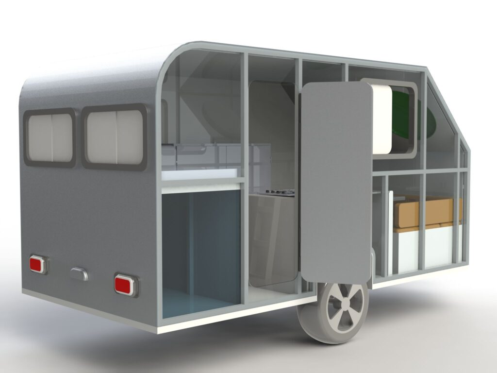 Remorque-caravane - Bureau d'études CAMCAD.fr